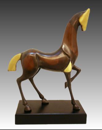 抽象造型銅馬